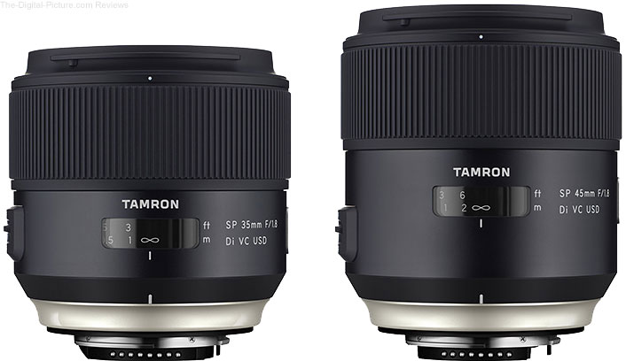 Tamron Announces SP 35mm f/1.8 Di VC USD & SP 45mm f/1.8 Di VC USD Lenses