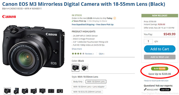 Here's how to bundle the viewfinder with your EOS M3 purchase.