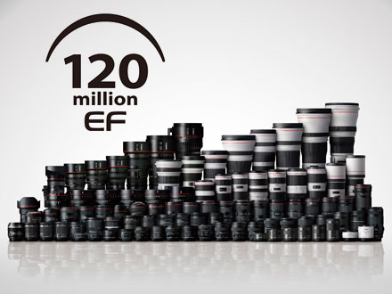 Canon Celebrates Production of 120 million Interchangeable EF Lenses