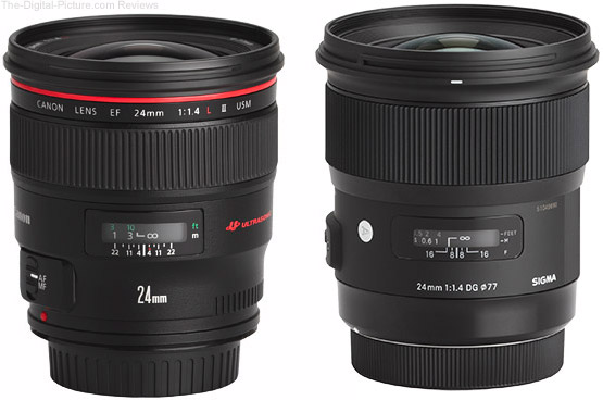 Should I Get the Canon EF 24mm f/1.4L II USM or Sigma 24mm f/1.4 Art Lens?
