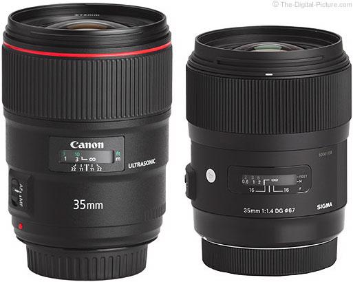 Should I Get the Canon EF 35mm f/1.4L II USM or the Sigma 35mm f/1.4 DG HSM Art Lens?