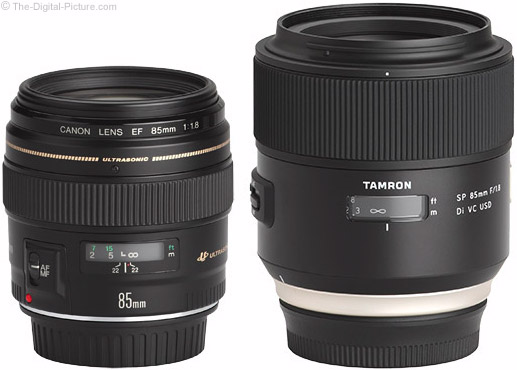 Should I get the Canon EF 85mm f/1.8 USM or the Tamron 85mm f/1.8 Di VC USD Lens?