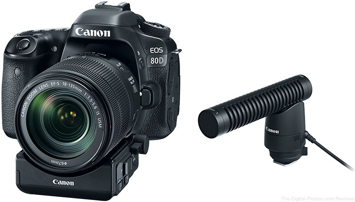 Canon Announces EOS 80D, EF-S 18-135mm IS USM,  Power Zoom Adapter PZ-E1 & Directional Microphone DM-E1