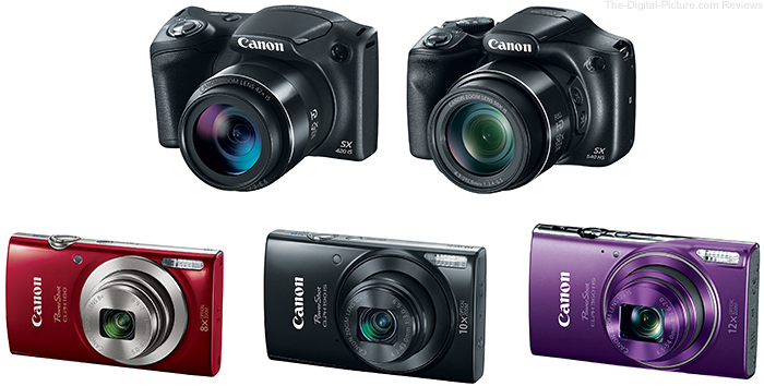 Canon Announces Five New PowerShots