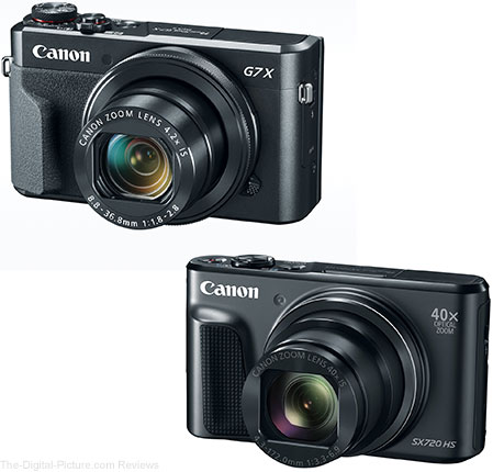Canon Announces Powershot G7 X Mark II And PowerShot SX720 HS Cameras