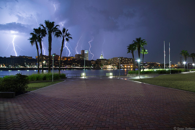 Capturing Lightning Over Savannah Using the Miops Camera Trigger