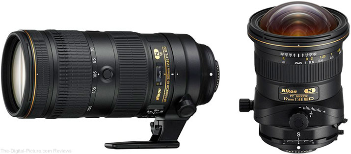 Nikon Announces AF-S NIKKOR 70-200mm f/2.8E FL ED VR and PC NIKKOR 19mm f/4E ED Lenses
