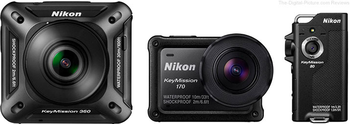 Nikon Introduces KeyMission Action Cameras