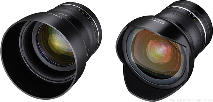 Samyang Announces Premium MF 85mm f/1.2 & 14mm f/2.4 Lenses Designed for High Resolution Sensors