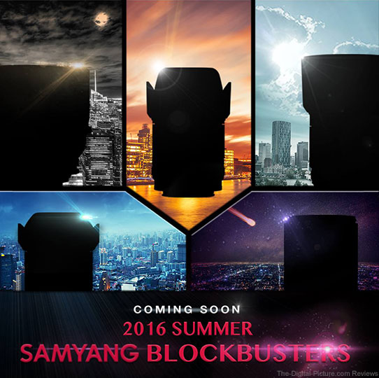 Samyang Set to Release 1 Lens a Week for 5 Weeks
