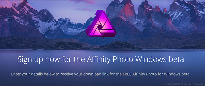 Affinity Photo for Windows Now in Free Public Beta