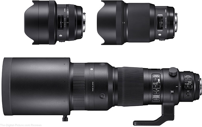 Sigma Introduces 12-24mm f/4 DG HSM Art, 85mm f/1.4 DG HSM Art and 500mm f/4 F4 DG OS HSM Sports Lenses