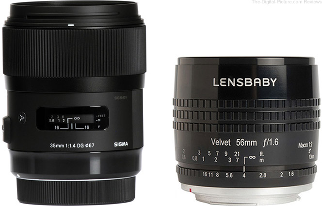 Get $50.00 Off the Sigma 35mm f/1.4 Art and Lensbaby Velvet 56mm f/1.6 Lenses