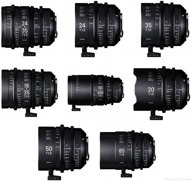 Sigma Announces Cine High Speed Zoom Lens Pricing and Availability