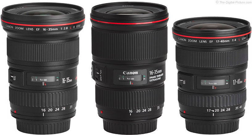 Should I Get the Canon EF 16-35 f/2.8L II, EF 16-35mm f/4L IS or the EF 17-40mm f/4L Lens?