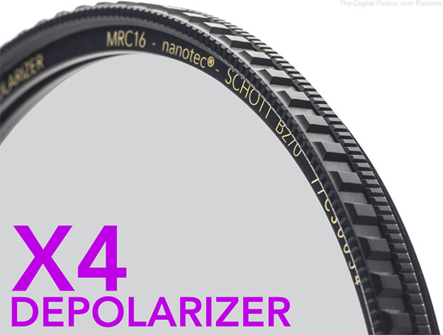 Breakthrough Photography Announces X4 Depolarizer Filter with Glare Enhancing Technology