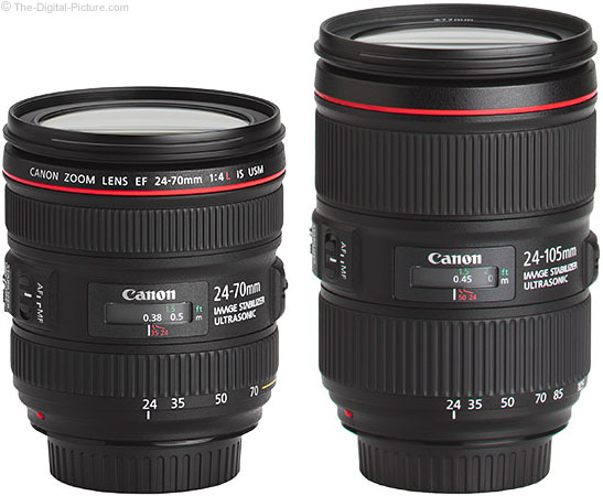 Should I get the Canon EF 24-70mm f/4L IS or 24-105mm f/4L IS II Lens?
