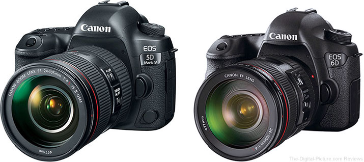 Should I Get the Canon EOS 5D Mark IV or the EOS 6D?