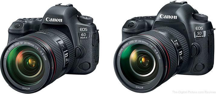 Should I Get the Canon EOS 6D Mark II or the 5D Mark IV?