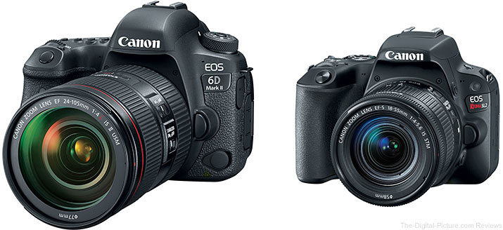 Canon EOS 6D Mark II & Rebel SL2 Preorders Now Live