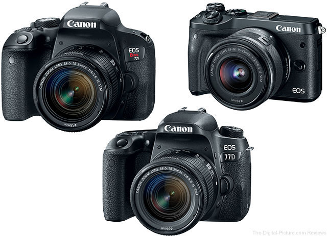 Canon EOS M6 / 77D / Rebel T7i Cameras In Stock at B&H