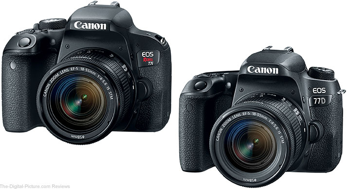 Canon Announces Rebel T7i & 77D with Dual Pixel CMOS AF, 45-point All Cross-type AF Systems (and More)