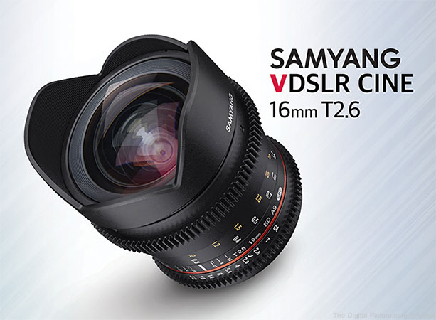 Samyang Announces VDSLR Cine 16mm T2.6 Lens