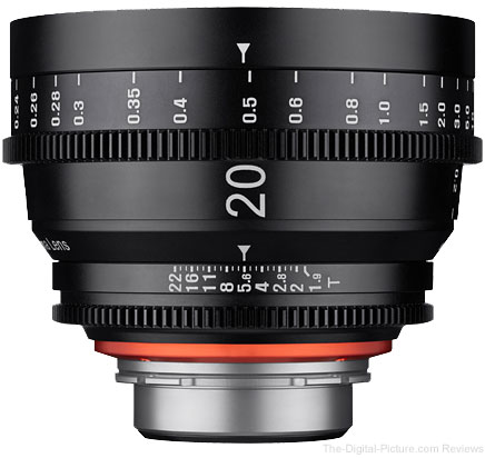 Samyang Announces XEEN 20mm T1.9 Cine Lens