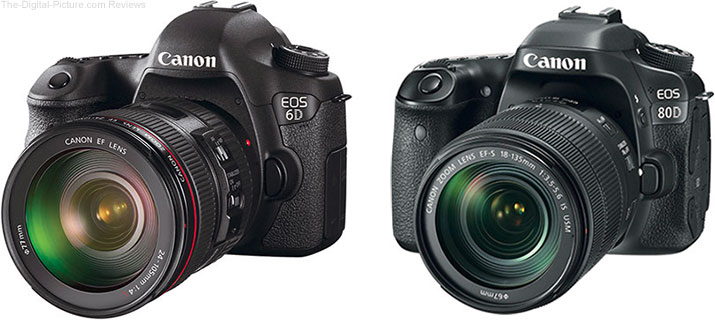 Should I get the Canon EOS 6D or the EOS 80D?