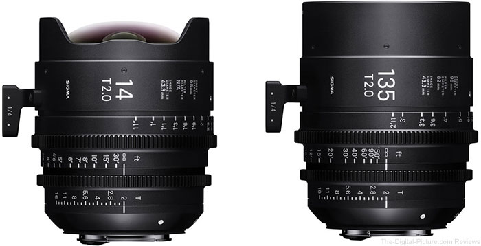Sigma Announces Pricing and Availability for the 14mm and 135mm T2 Cine Prime Lenses, Shipping This July