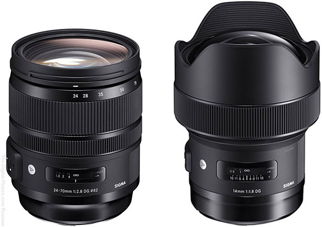 Sigma 24-70mm f/2.8 OS & 14mm f/1.8 Art Lenses Available for Preorder at 1:00am ET