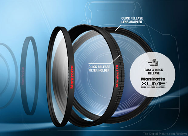 Manfrotto Officially Launches 'Innovative' Lens Filter Suite (Filters + XUME Adapters)