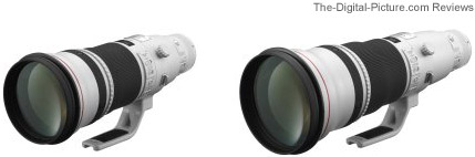 Canon EF 500mm and 600mm f/4 L IS II USM Lenses (Prototypes)