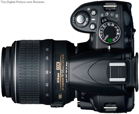 Nikon D3100 DSLR Camera - Top View
