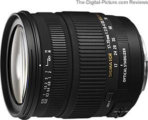 Sigma 17-70mm f/2.8-4 DC Macro OS HSM Lens