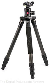 3POD P4CFH Carbon Fiber 4 Section FlatFold Tripod with Head
