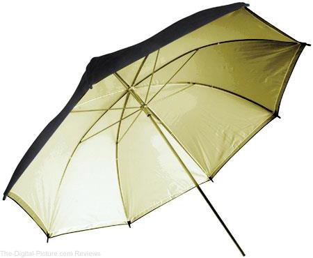 "Adorama 40"" Gold Interior Umbrella - $1.99 + Shipping (Reg. $14.95)"