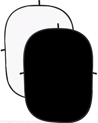 Angler Collapsible Background - 5 x 7' (Black/White) - $49.95 Shipped (Reg. $69.95)