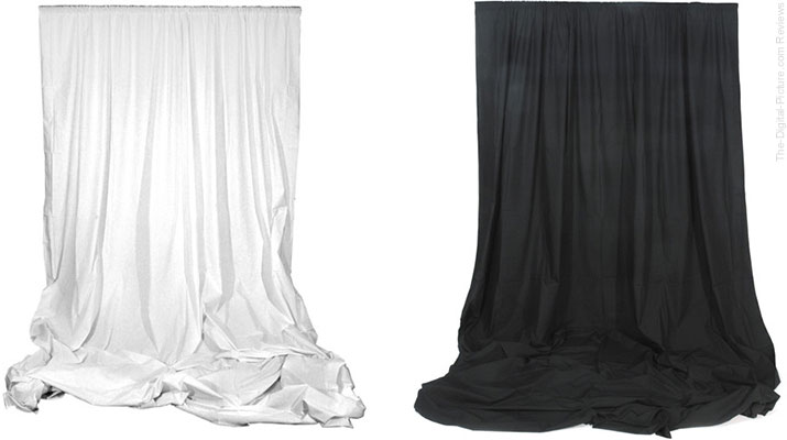Angler Muslin Backgrounds (White or Black, 10 x 12') - $39.95 Shipped (Reg. $58.95)