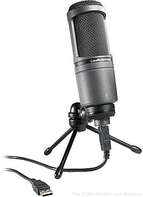 Audio-Technica AT2020USB Condenser Microphone with USB Connection