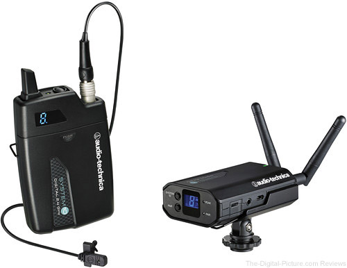 Audio-Technica ATW-1701/L System 10 Camera-Mount Digital Wireless System with Omni Lavalier Mic - $379.00 Shipped (Reg. $449.95)