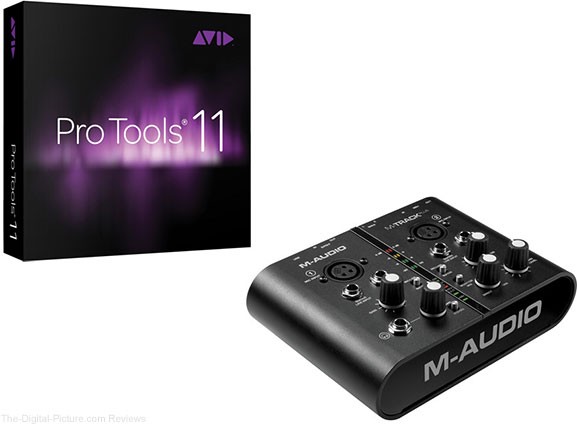Avid Pro Tools 11 with M-Audio M-Track Plus USB Interface Bundle