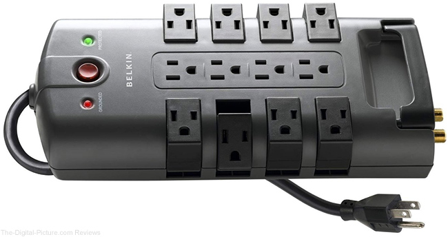 Belkin 12-Outlet Pivot-Plug Surge Protector with 8 ft. Cord