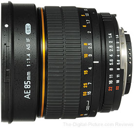 Bower 85mm f/1.4 Manual Lens for Nikon