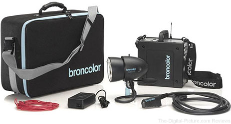 Broncolor Mobil A2L One-Lamp Travel Kit with LiFe Lithium Battery