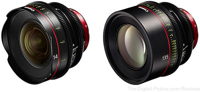 Canon CN-E14mm T3.1L F and CN-E135mm T2.2L F Cinema Lenses