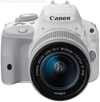Canon 100D DSLR Camera and EF-S 18-55mm IS STM Lens White Edition