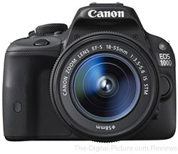 Canon EOS 100D (Rebel SL1) with EF-S 18-55mm IS STM Lens - $589.00 (Compare at $699.00)
