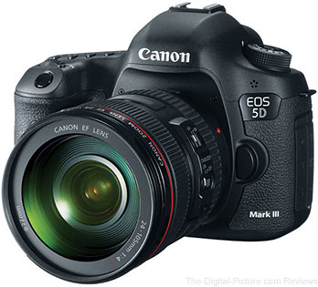 Canon EOS 5D Mark III + EF 24-105mm f/4L IS USM Lens Bundle - $3,349.00 + Free Overnight Shipping (Reg. $3,899.00)