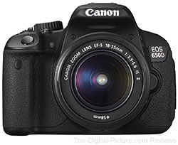 Canon EOS 650D (Rebel T4i) with EF-S 18-55mm IS II Lens - $659.00 (Compare at $799.00)
